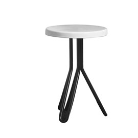LACQUERED ROUND STOOL