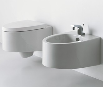 Wall-hung toilet and bidet