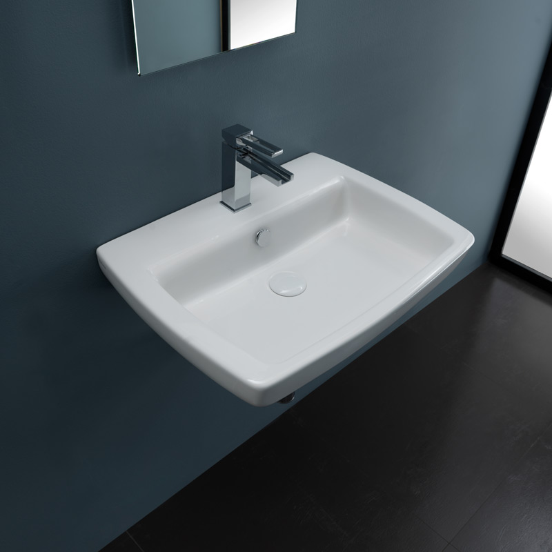 Wall-hung washbasins